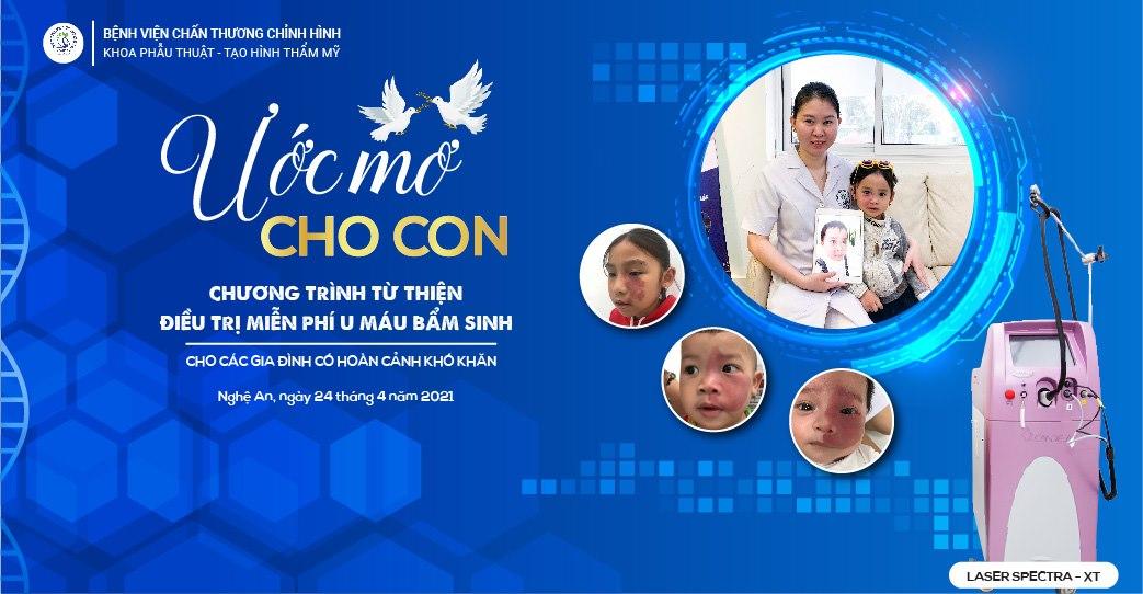 Hàng nghìn cơ hội điều trị u máu, bớt máu miễn phí cho trẻ em nghèo ở Nghệ An