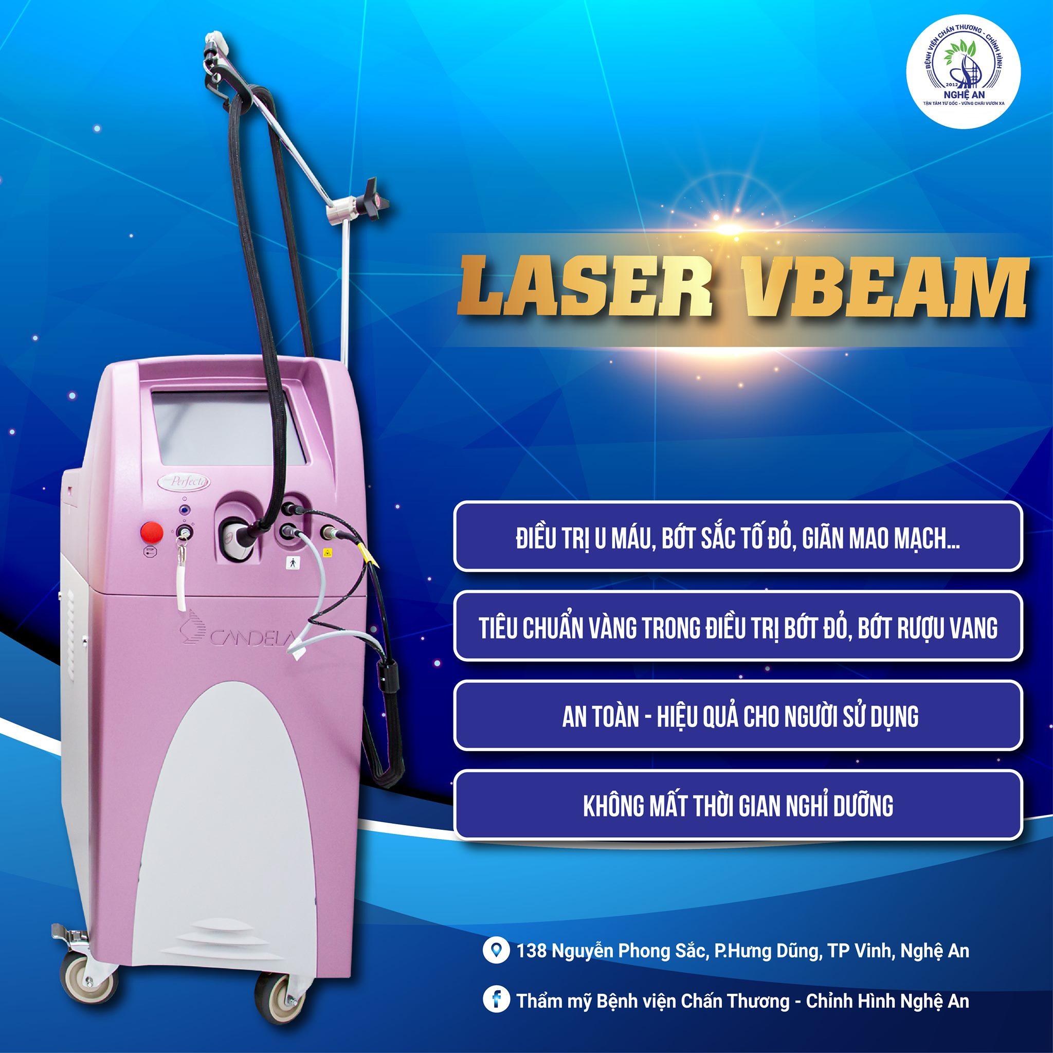 Công nghệ Laser Vbeam trong điều trị bớt rượu vang, u máu, bớt máu.